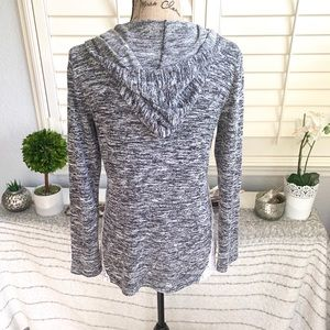 Chance or Fate Sweaters - Hooded lace grey sweater